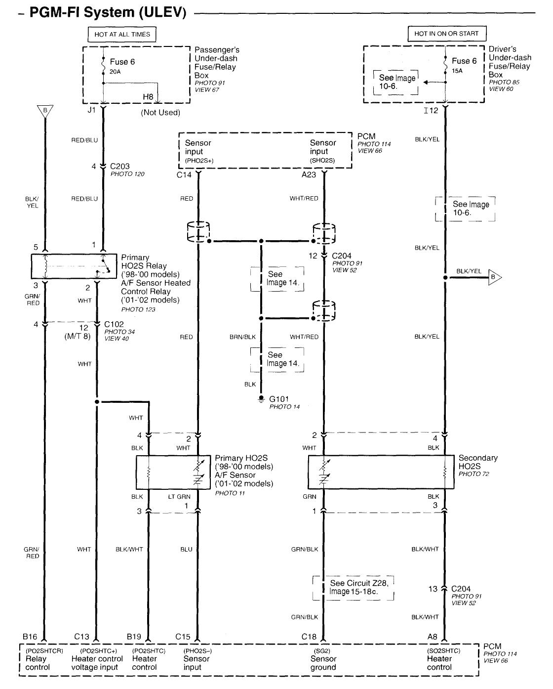 99 Civic O2 Sensor    Wiring       Diagram      autocardesign