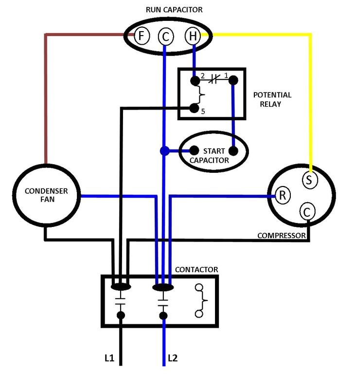 air conditioner capacitor wiring diagram wiring diagram show hvac compressor wiring diagram wiring diagram show ac