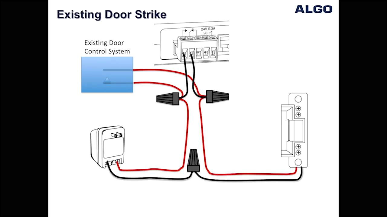 how to wire a door strike to an algo 3226 3228 and 8028 doorphone adams rite electric strike wiring diagram electric strike wiring diagram