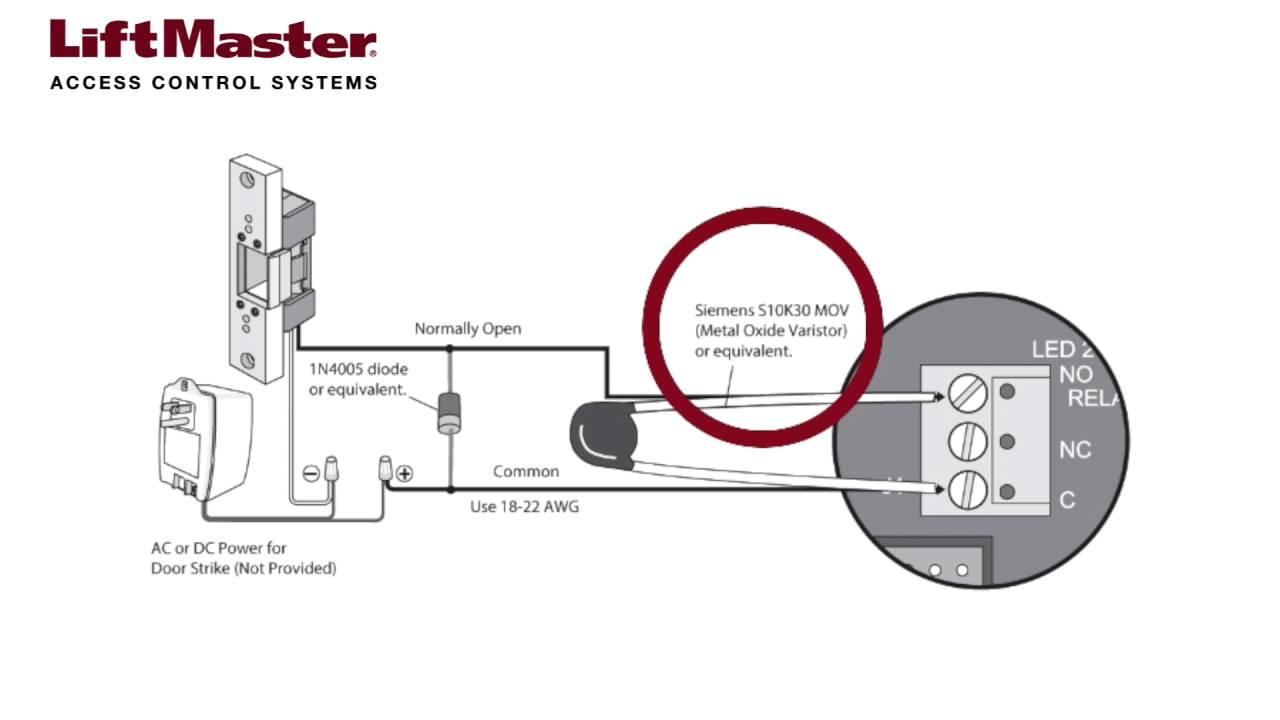 how to wire a door strike to the el2000 el2000ss or el25 telephone adams rite electric strike 7400 wiring diagram electric strike wiring diagram