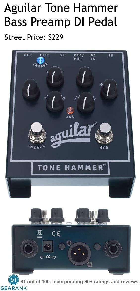 aguilar tone hammer bass preamp di pedal preamp features ags obp 3