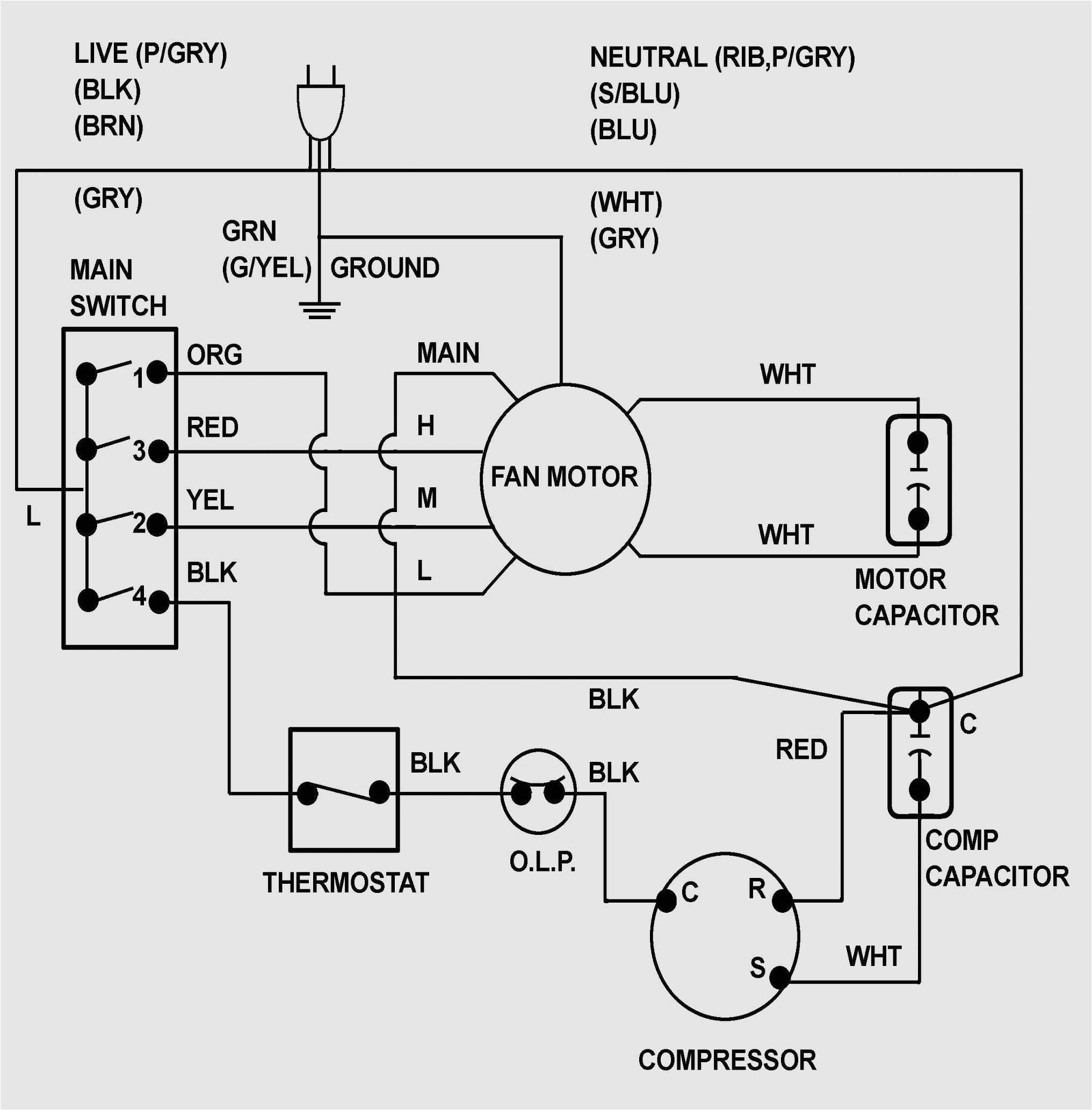 air conditioner circuit diagram periodic amp diagrams science