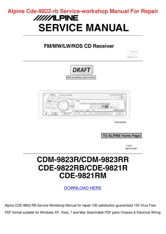 alpine cde 9874 wiring diagram