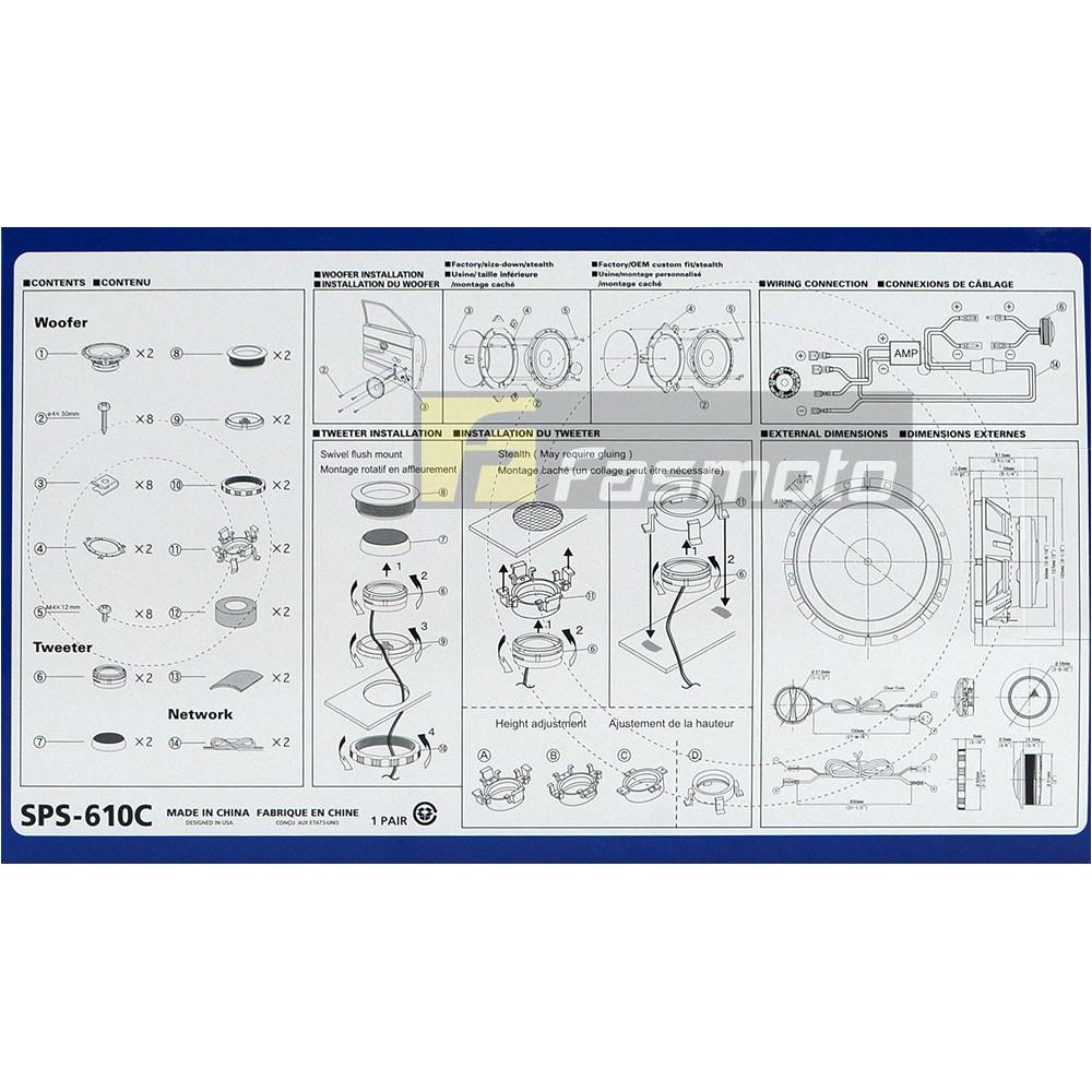Alpine Sps 610c Wiring Diagram Ponent Speaker Wiring Diagram Alpine Car Speakers Wiring Library