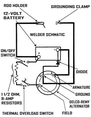 066 dc arc welder diagram