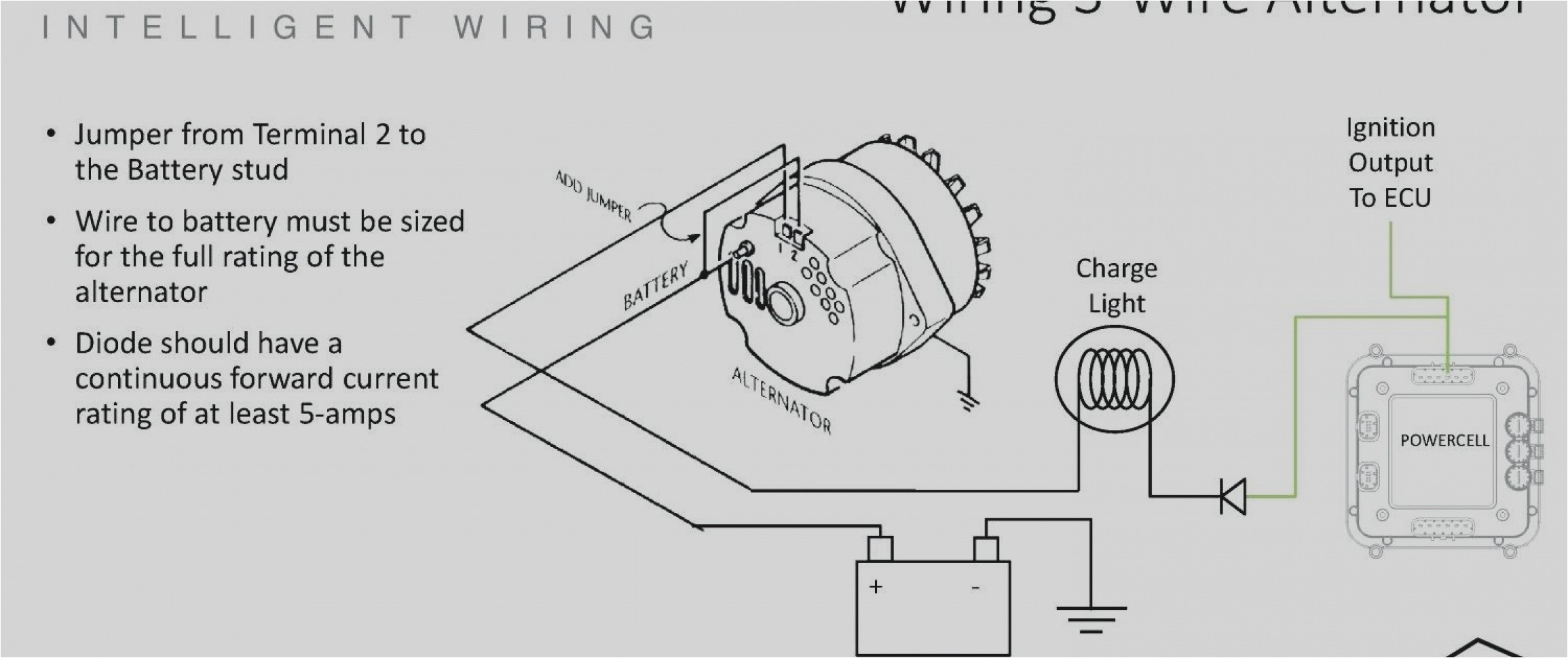 mack 3 wire alternator diagram wiring diagram used chevy 3 wire alternator wiring manual e book