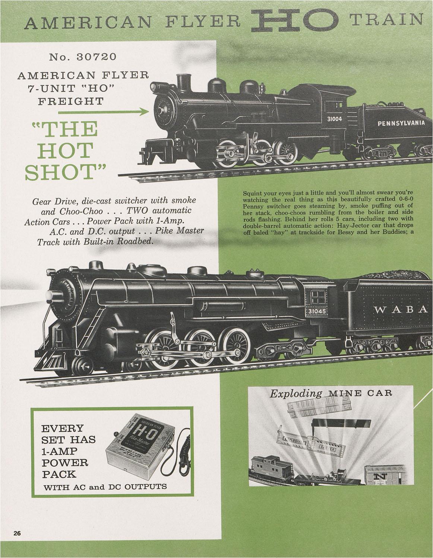 american flyer world of transportation catalogue 1962