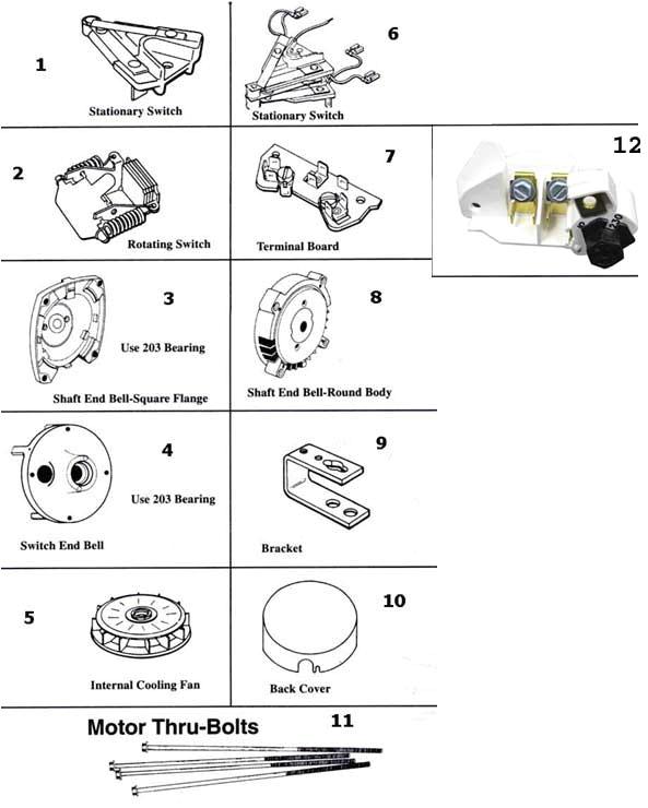 a o smith motor parts schematic