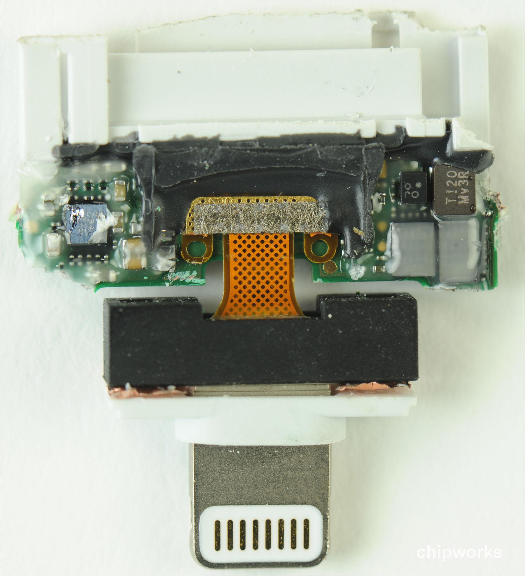 apple lightning to 30 pin adapter getting inside a lot of goop