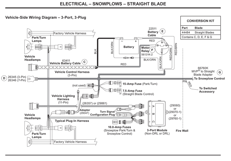 western vehicle side wiring diagram 3 port 3 plugwestern snow plow wiring diagrams 6