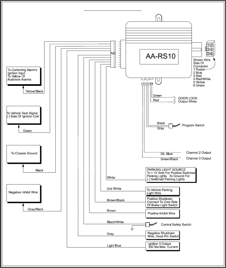 audiovox alarm wiring diagram pursuit car 950x1124 with png