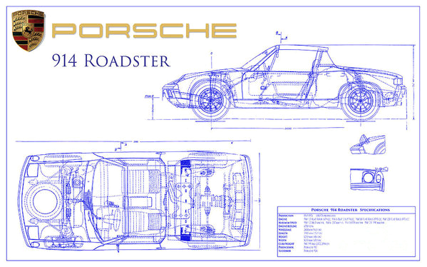 porsche 914 engine diagram 914 tech notebook wiring diagrams second porsche 914 blueprint poster by jon
