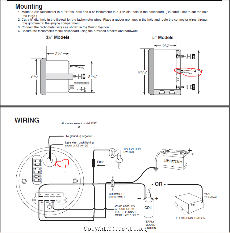 Autogage by Autometer Wiring Diagram Auto Meter Tach to Msd 6al Box Wiring Wiring Diagram Sample