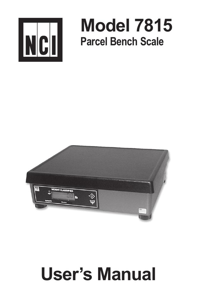 nci 7815 7815r user manual avery weigh