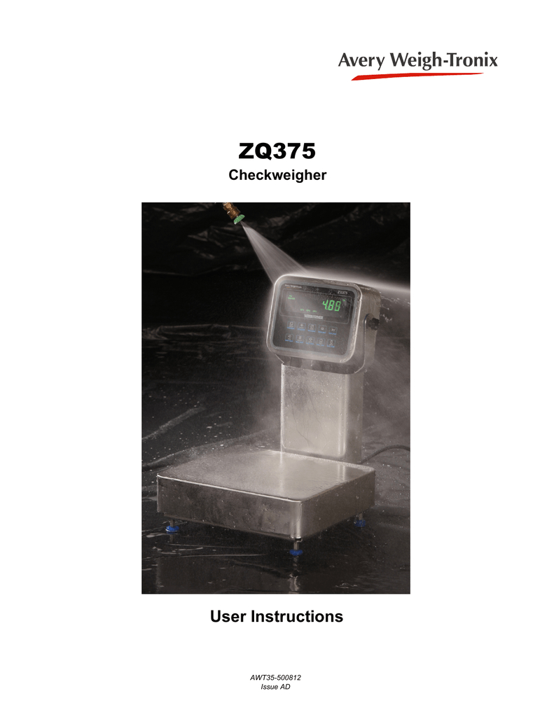 specifications zq 375 user manual avery weigh