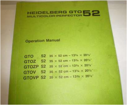 electrical wiring diagram gto 52 fantastic lot 1983 heidelberg 52 offset press with
