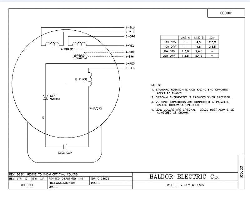 Baldor Single Phase Motor Wiring Diagram Single Phase Motor Wiring Diagram Beautiful Baldor Motors Wiring