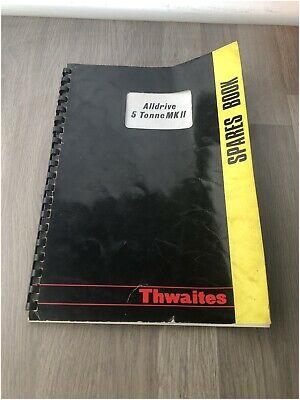 thwaites alldrive 5 ton mk11 dumper spare parts list with wiring diagram