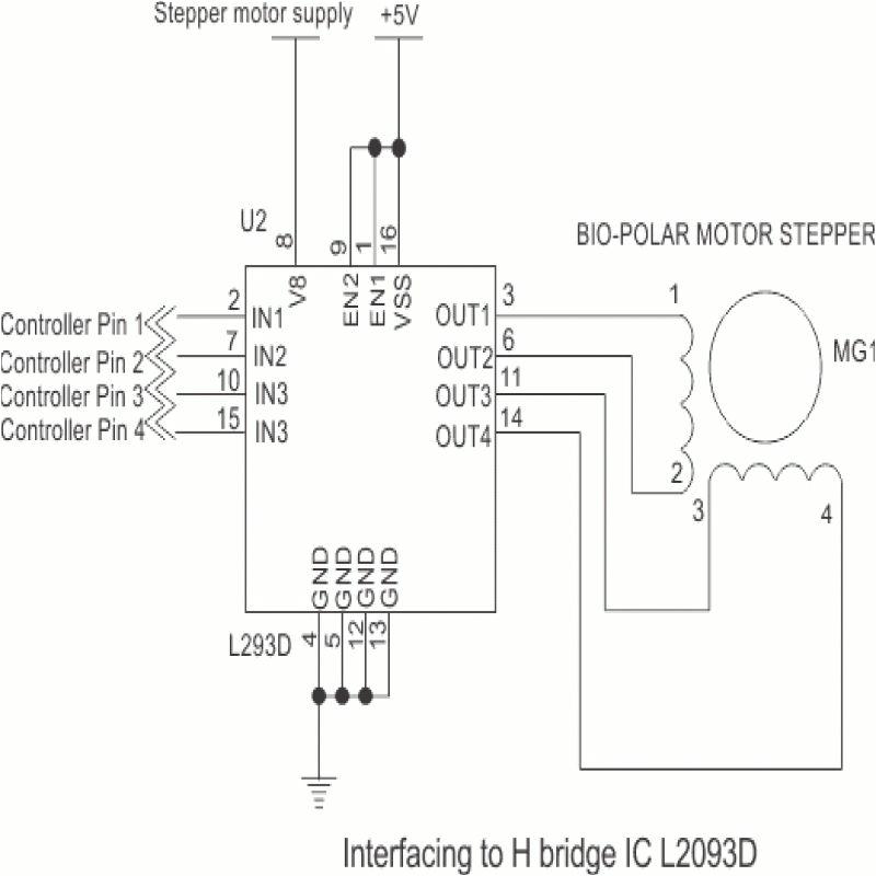 bipolar stepper motor driver circuit diagram circuit diagram