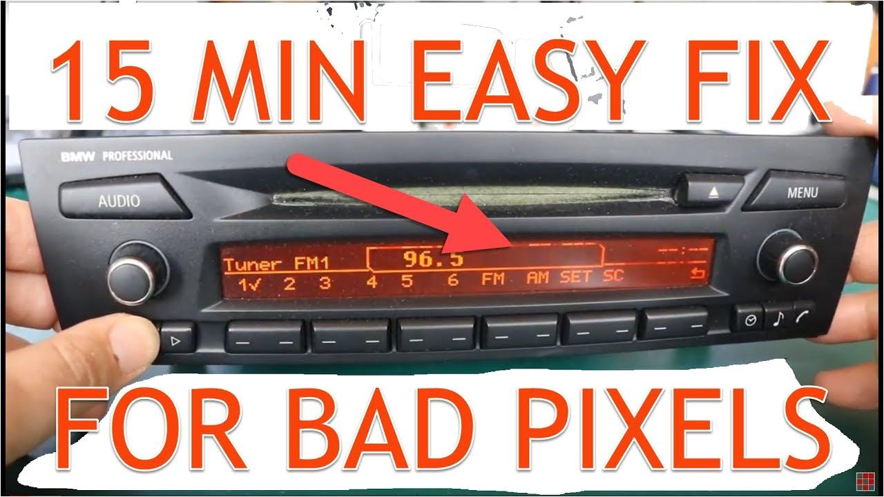 diy pixel repair instructions for bmw e90 e91 e92 professional radio cd73 made by alpine