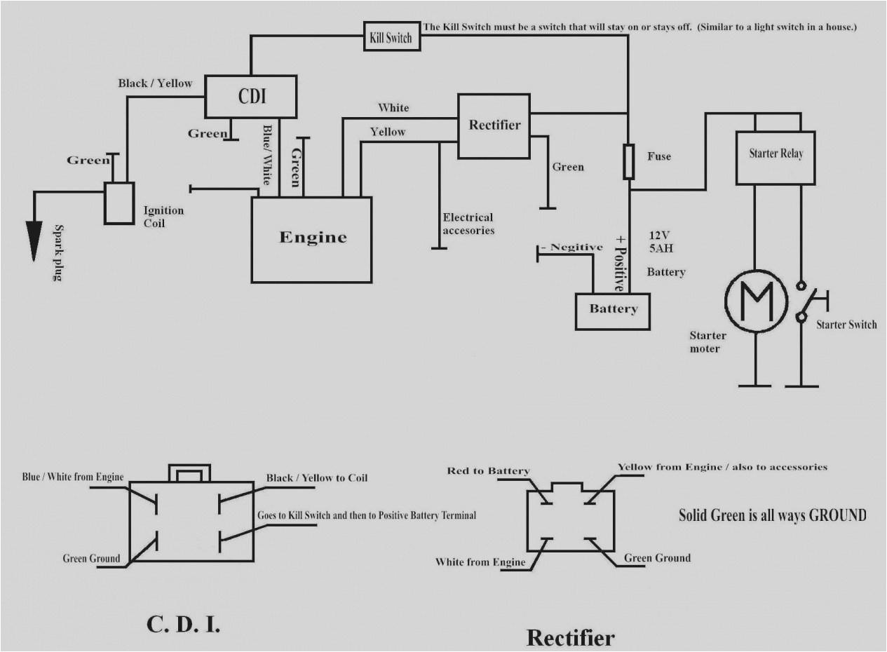 mini bike wiring diagram