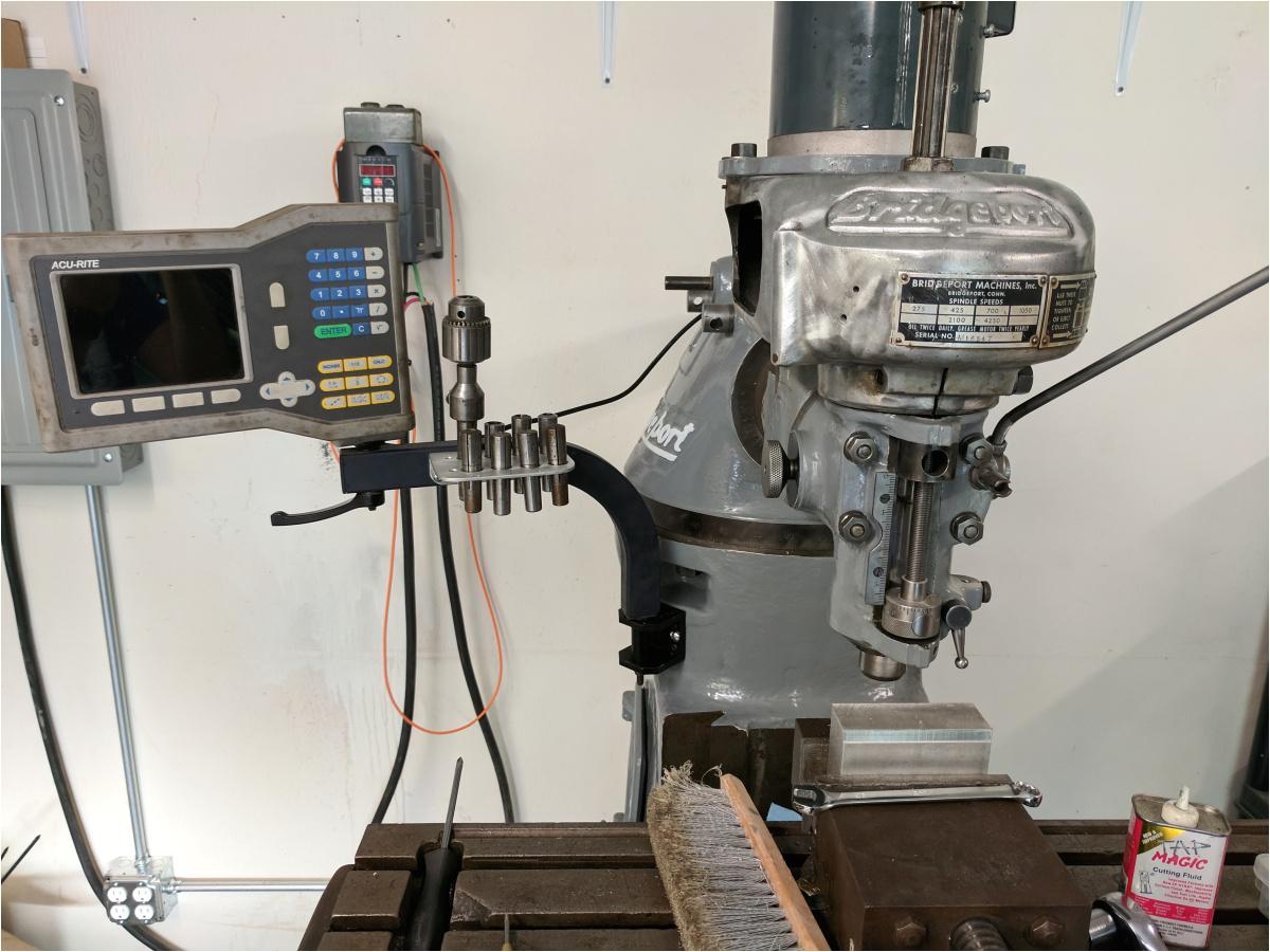 bridgeport m head milling machine pt 2 first chips vfd wiring dro installation and broken drawbar nate duxbury s blog