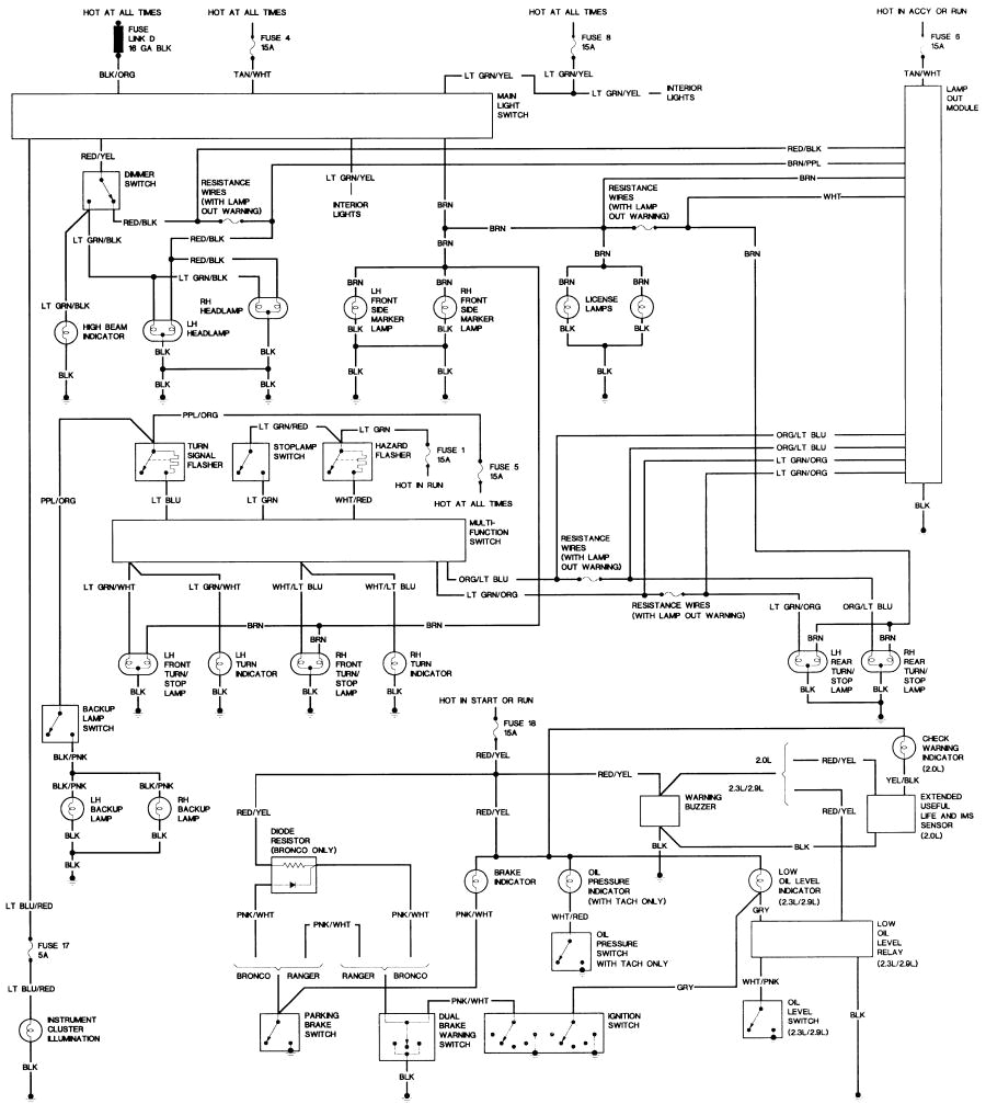 bronco ii wiring diagrams bronco ii corral1988 ford truck body wiring 19