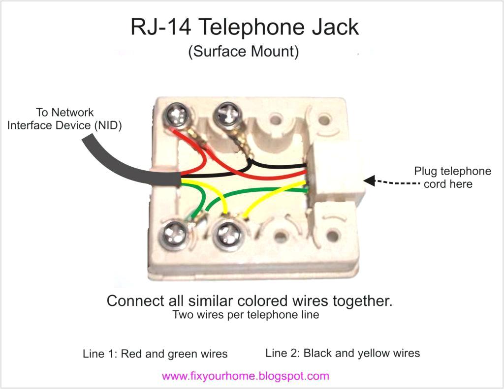 rj14 phone jack wiring wiring diagram used rj14 telephone