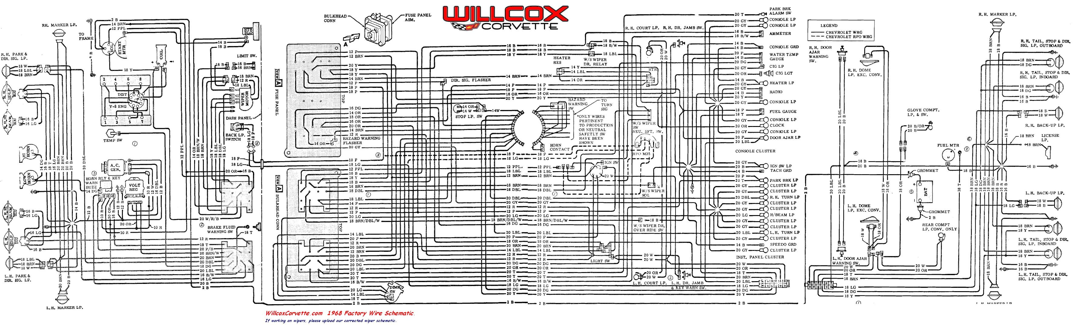 corvette wiring schematic wiring diagram toolbox 1968 corvette wiring schematic