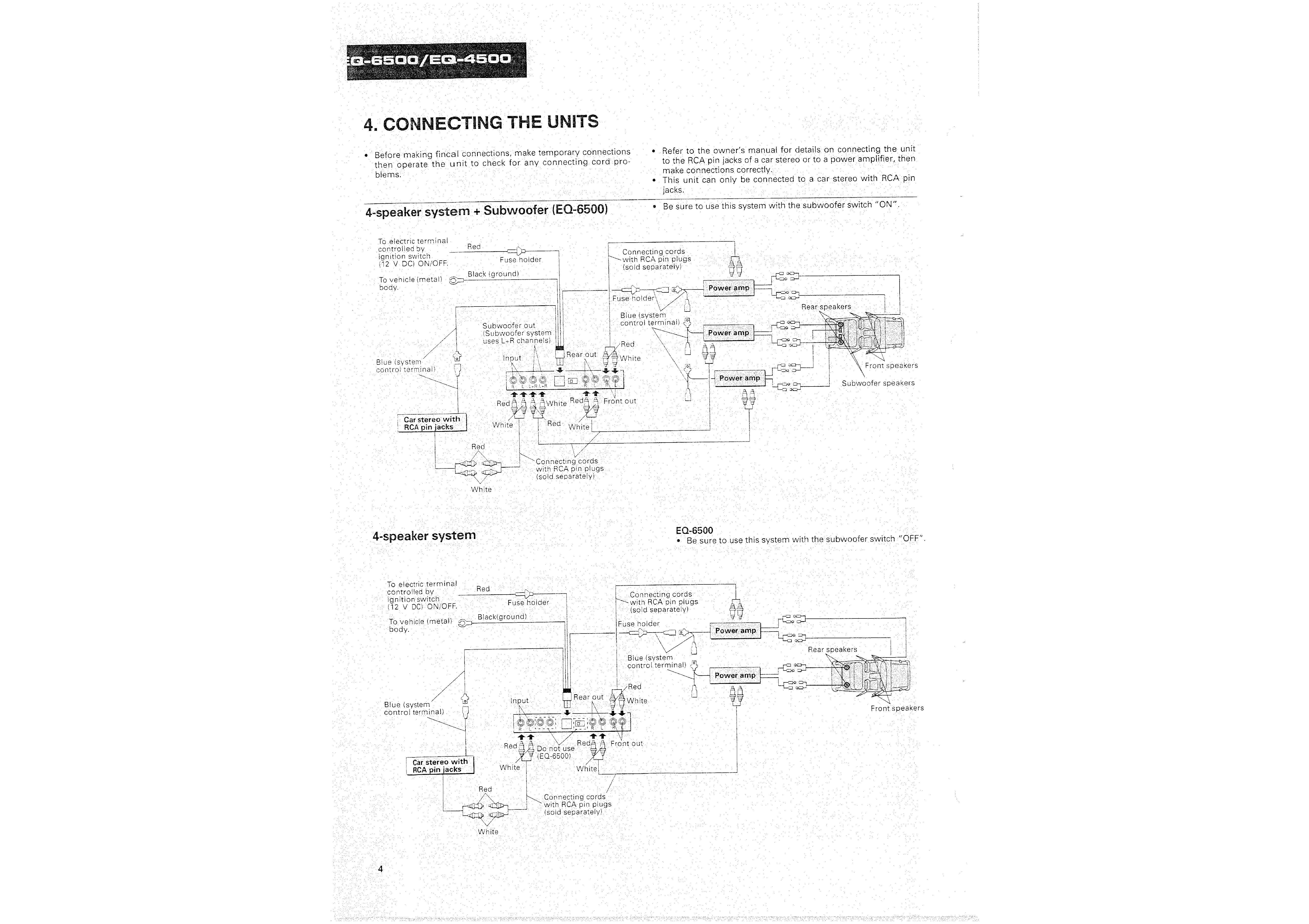 Car Stereo Amp Wiring Diagram Car Equalizer Wiring Diagram Lovely Pioneer Eq 6500 Wiring Diagram