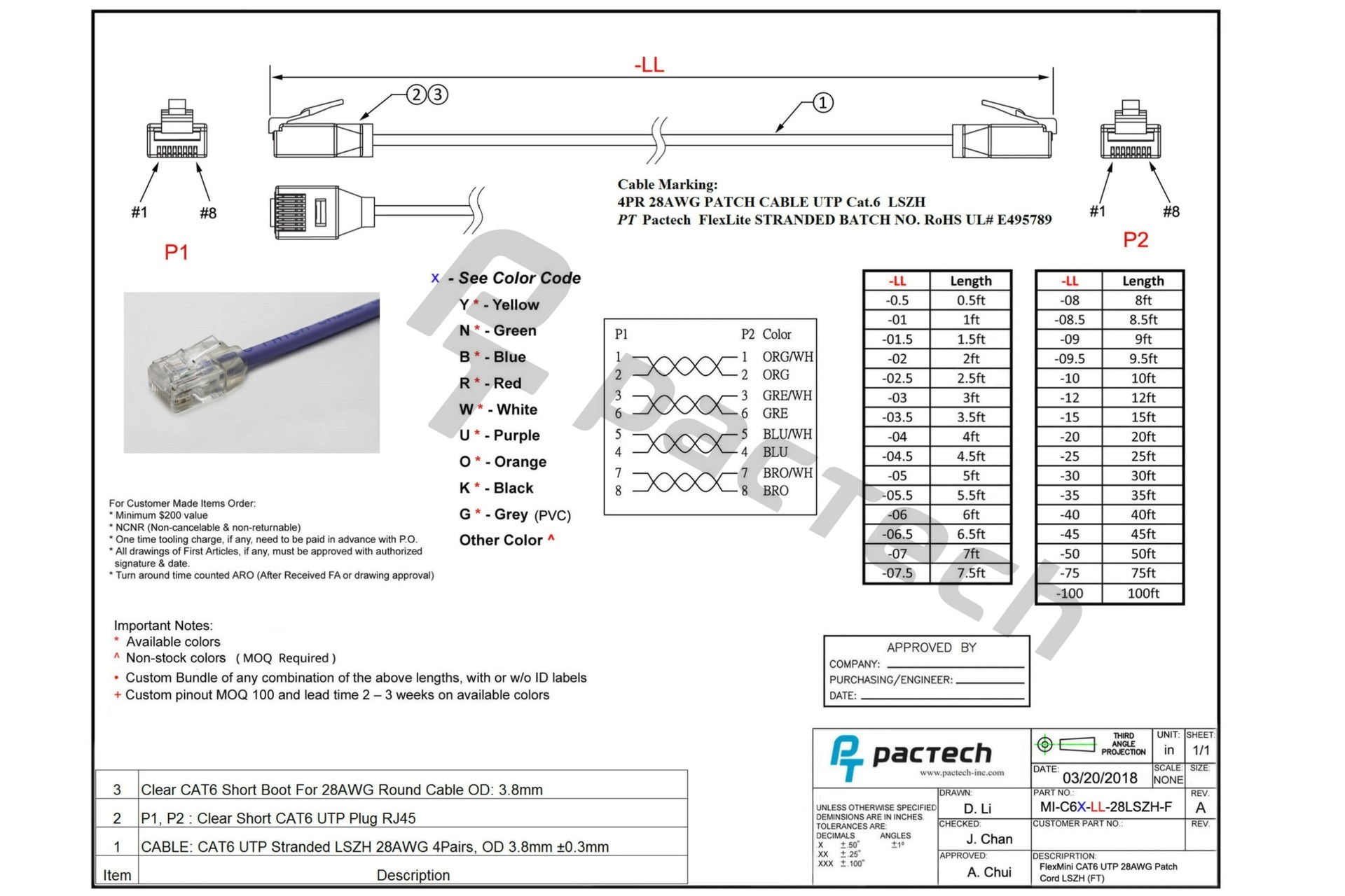 cat6 wiring diagram color codes t 568b