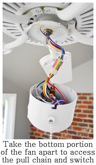 how to fix a ceiling fan light switch and pull chain