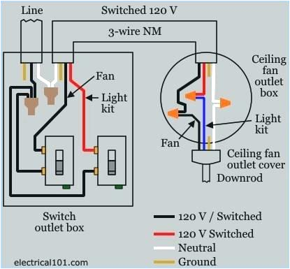 wiring a ceiling fan and light with two switches diagram elegant peerless light switch wiring diagram multiple lights image 0d