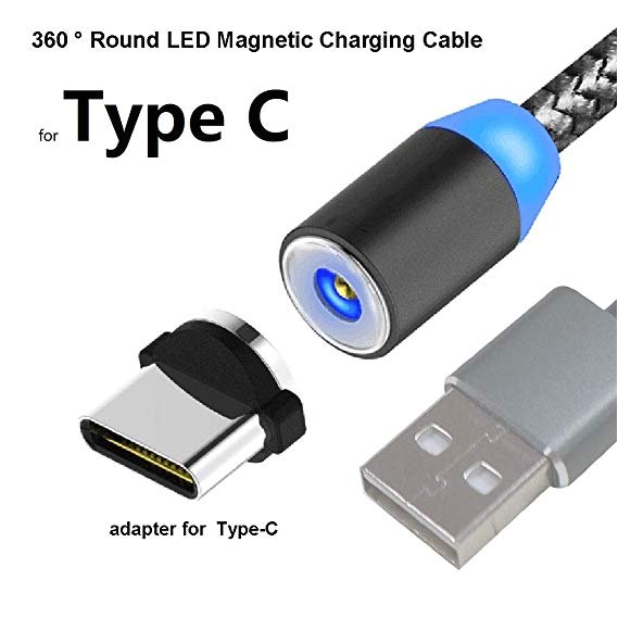 taikool magnetic phone charger charging cable 360a round max 2 4a fast charging