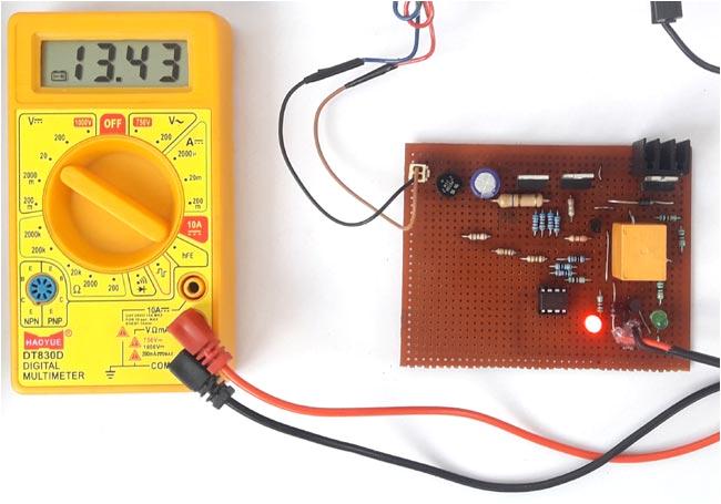 float charger circuit for 12v sla battery