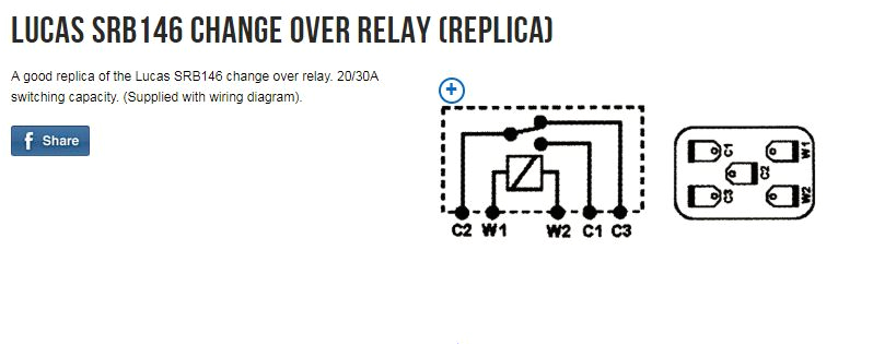 this relay connects c2 to c1 or to c3 depending on whether the relay is energized or not any changeover relay should have 3 contact a c terminals in addition