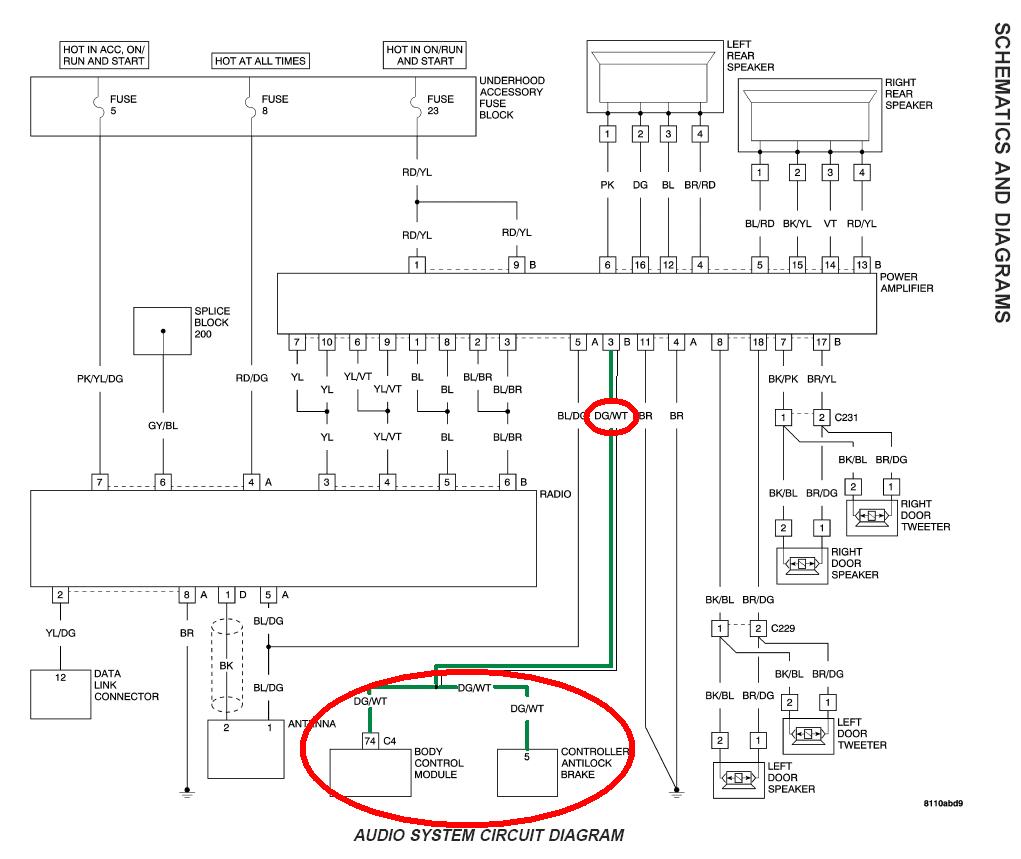 Chrysler Crossfire Wiring Diagram Chrysler Crossfire Radio Wiring Diagram Wiring Diagram Technic