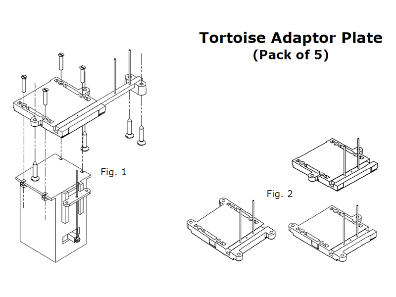 click the link to download the full instructions for tortoise adaptor plates