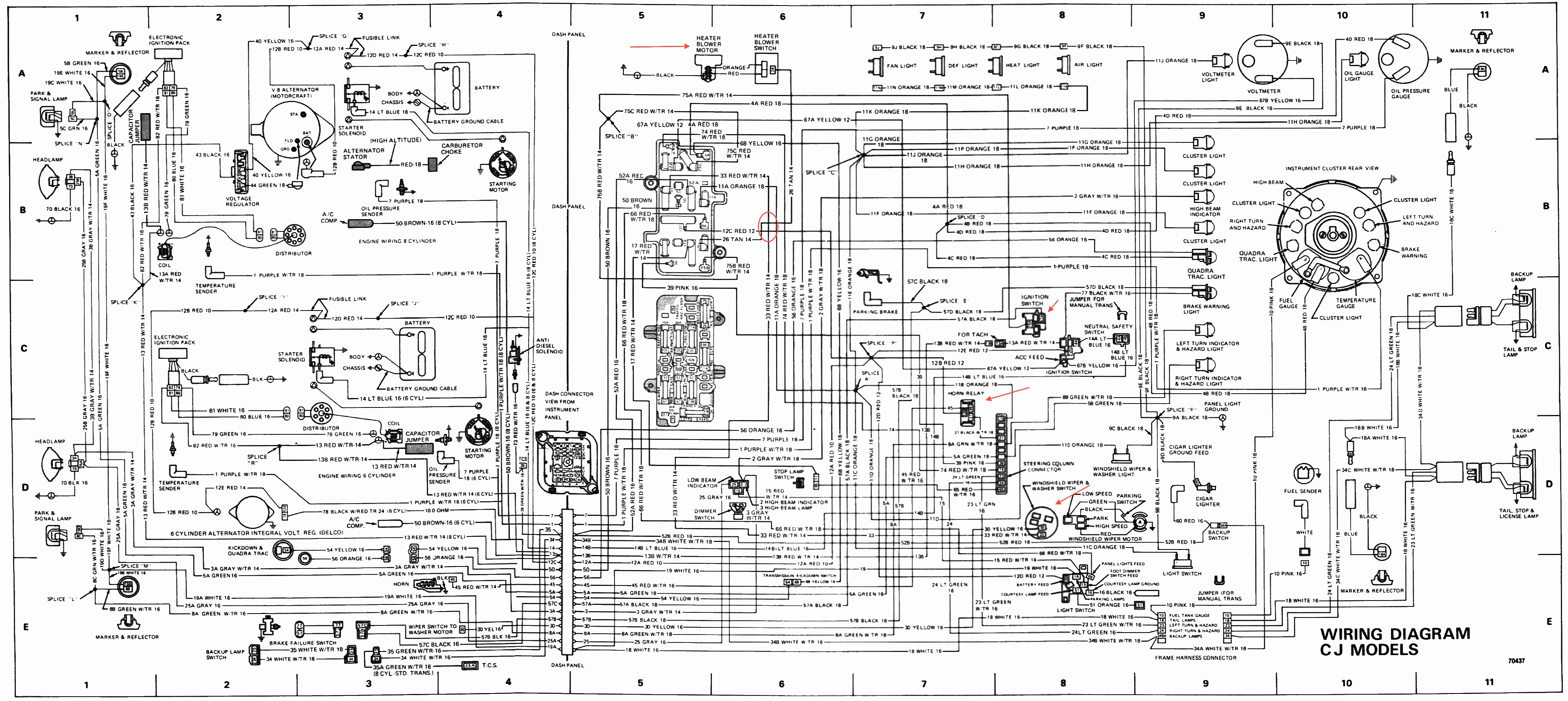 77 cj7 wiring diagram