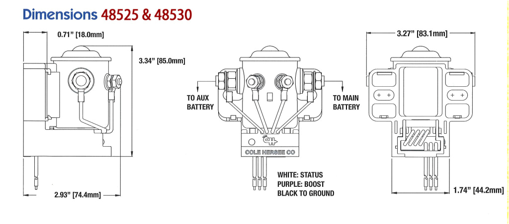 Cole Hersee Rocker Switch Wiring Diagram 16v Dc Cole Hersee Smart Battery isolator 200a Bulk Pkg 48530