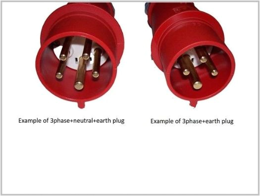 3 phase 4pin 5pin plugs explained
