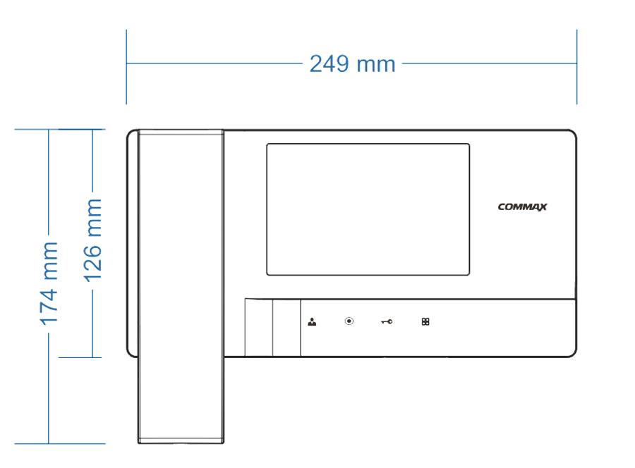 cdv 35a cdv 35a dc wymiary monitora do wideodomofonu