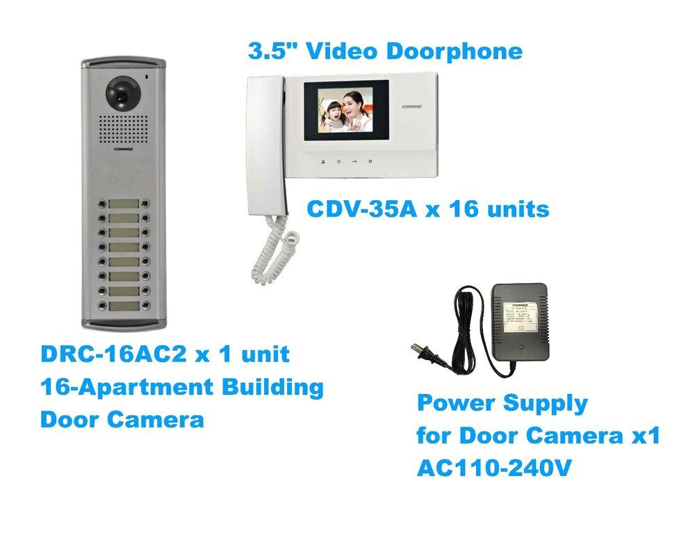 commax video door intercom set 16 apartment building with 3 5 video monitors ebay