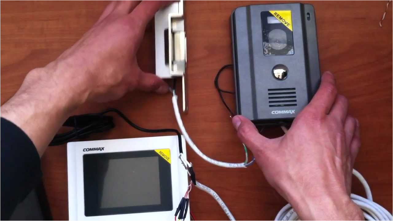 como conectar un videoportero commax instalacion de videoportero curso youtube