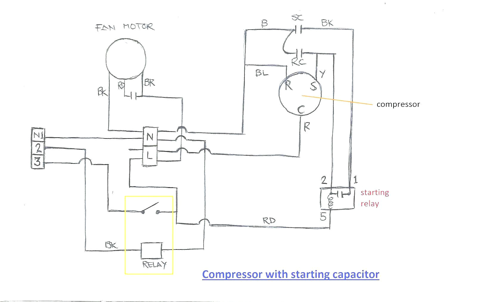 refrigeration single phase refrigeration compressor wiring wiring refrigeration wiring diagrams starter box