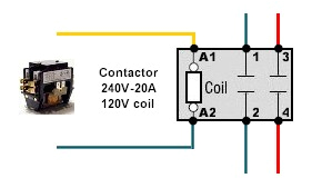 wiring diagram for 120v coil contactor wiring diagram meta 120 volt contactor wiring