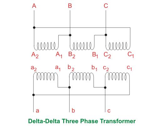 delta delta three phase transformer