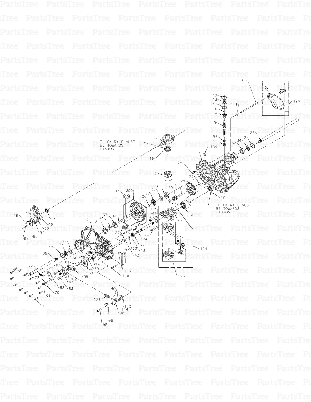 cub cadet ltx1046 13wp91at010 cub cadet lawn tractor 2010 transmission hydrostatic diagram and parts list partstree com