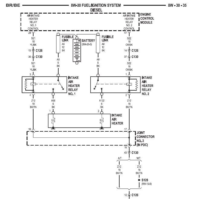 Cummins Grid Heater Wiring Diagram Grid Heater Manual Control 2nd Generation Dodge 24 Valve