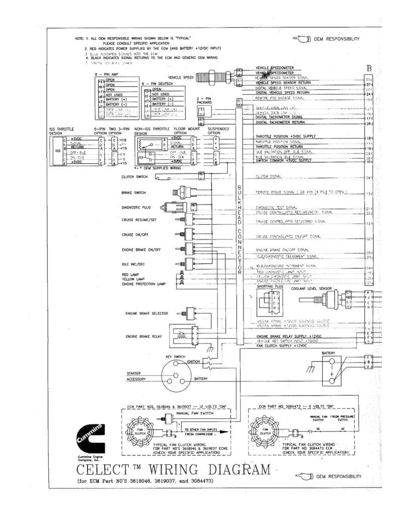 cummins n14 celect wiring diagram cummins n14 engine diagram 98 peterbilt speedo doesnt work and
